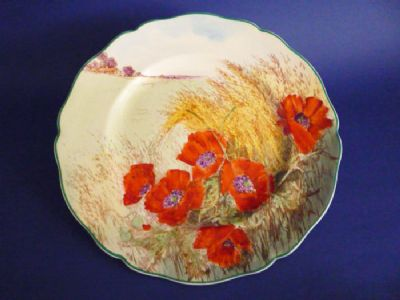 Royal Doulton 'Poppies in a Cornfield' Series Ware Rack Plate D6312 c1949